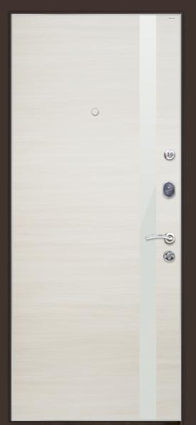 Входные двери белый глянец